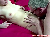 Young Dutch hooker empties mature client's balls and spits cum in his mouth after sex 8