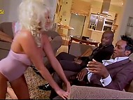 Giant black penises penetrate juicy cunny and tight anal hole of glamour Greek woman