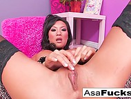 Asian pornstar Asa Akira can have sex for many hours and polish pussy with vibrator 9