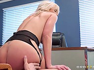 Boss' big-tittied wife Nina Elle saw guy's penis and desired to have it in asshole 5