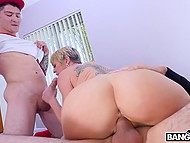 Two young baseball players made their way to MILF's backyard and fucked her like a whore 7