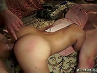 Two soldiers of American army record rough threesome with sexy Arab woman in hijab 11