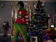 Grinch wants to steal Christmas again and nice family stops him and invites to group sex 6