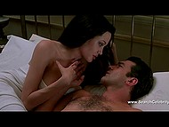 Passionate lovemaking scene with Angelina Jolie and Antonio Banderas from 'Original Sin' erotic thriller 9