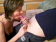 Mature Norwegian wife presents nice bj to lazy husband in homemade porn video 4