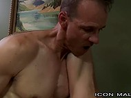 Stepfather has close relationship with young stepson and nails his butthole in bedroom 11