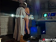 Noble Skywalker decided not to kill imperial warrior but thoroughly fucked her instead 6