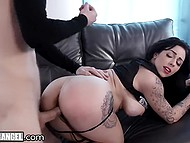 Drop-dead gorgeous alt slut Harlow Harrison enjoys wild sex in doggystyle position