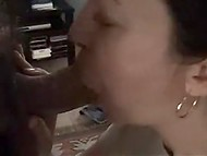 Turkish MILF was in good mood and took husband's long stick deep in throat in homemade video 5