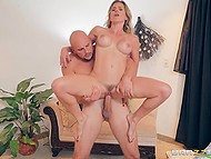 Naughty MILF invited hot guy from husband's football team as she was in urgent need of cock