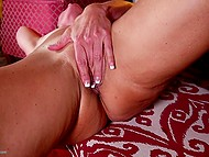 This mature woman looks like goddess and her pussy is getting wet from clit stimulation 5