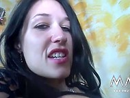 Busty German brunette improves sexual knowledge of amateur mature couple 8