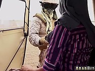 American elite soldier fucks Arab chick in hijab at midnight and lets her go in morning 11