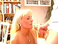 Danish wife with blonde hair doesn't need hints about what time is better for riding husband's dick 11