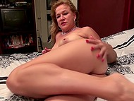 Mature woman from Holland does not need any reason to please hairy vagina once again 6