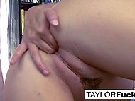 Playful MILF Taylor Vixen with great hooters will always find time to masturbate her pussy 5