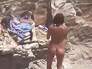 Muscular buddy shamelessly fucks tanned Danish girlfriend from behind on the beach 5