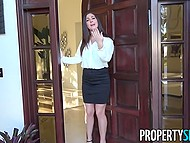 Splendid estate agent didn't have relationship for a very long time so she agreed to be fucked by buyer 4
