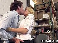 Unsatisfied boss Alexis Fawx forces new attractive employee to please all her sexual needs 5