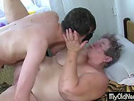 Fat old woman from Bulgaria goes foursome with young slut and her perverted comrades 5