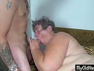 Fat old woman from Bulgaria goes foursome with young slut and her perverted comrades 9