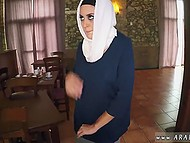 Teen Arab refugee manages to satisfy hotel owner's desires that means she can stay here tonight 11