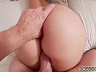 Romanian doll with juicy booty pushes excited pussy on beloved's fuckstick in POV clip 10