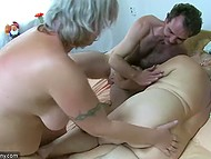 Man knew that chubby girlfriend and her old stepmother like to taste sweets and hard cock 10