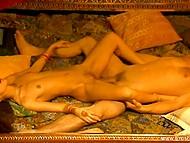 Чувственный секс субтильной индийской красавицы и её белого кавалера в HD порно видео 4