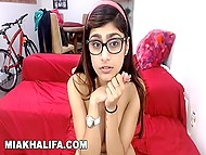 Big-tittied Arab Mia Khalifa explains meaning of her tattoos and plays with sex toy on webcam 11