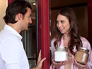 Arousing housewife Riley Reid was so wet that pounced on neighbor's cock without thinking twice 3