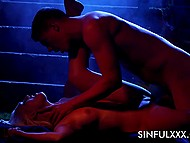 Sweet couple bypassed forbidden sign and soon arranged awesome sex in dark alley 6