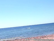 Amateur couple from Russia found quiet spot on beach perfect for their quick affair 4
