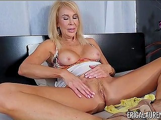 Big-boobied pornstar Erica Lauren invited viewers to masturbate with her watching this video