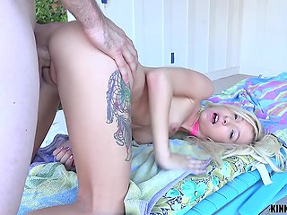 Entrancing stepdaughter is manipulating her stepfather and always forces him to have sex