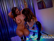 Life Selector presents flawless Abigail Mac and Jessica Night in amazing lesbian show 5