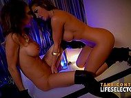 Life Selector presents flawless Abigail Mac and Jessica Night in amazing lesbian show 9