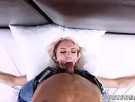 Rough man ties up skinny girl from Poland to the bed to shove cock deep in mouth and pussy 7