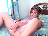 Compilation of videos featuring mature British female doing obscene things on camera