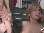 Two nasty bitches are playing with each other and waiting for hardy guys with fat cocks 9