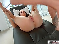 Classic gonzo video starring whore with gorgeous body and some experienced fuckers 11