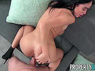 Property Sex video presents remarkable Victoria June who is swallowing man's dick with juicy pussy 6