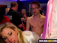 Corporate party was awesome because young sluts got drunk and offered pussies to colleagues 10