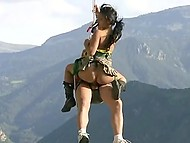 Asian nympho likes just extreme sex, so partner fucks her on ATV and during mountaineering 10