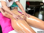 Sexy pornstar with big boobies gives blowjob to handsome masseur with tender hands balls deep 4