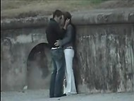 Compilation of videos by voyeurs spying on couples teasing and fucking in public places 4