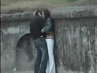 Compilation of videos by voyeurs spying on couples teasing and fucking in public places 5