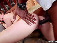 Pussy of attractive colleen is always ready for penetration with long black meatstick 8