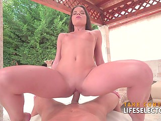 Boy arrives at home where beautiful and excited girl Anita Bellini waits only for his dick