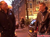 Tourist wasn't too fastidious and was serviced by fat curly hooker in Amsterdam brothel 5